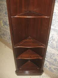 cherry wood corner bookcase ethan allen georgian court cherry corner curio display wall unit