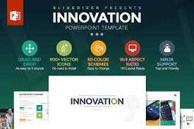 Powerpoint Cover Page Template by Innovation Powerpoint Template Presentation Templates Creative