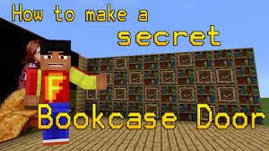 Minecraft Secret Bookshelf Door How To Make A Secret Bookcase Door In Mcpe Youtube
