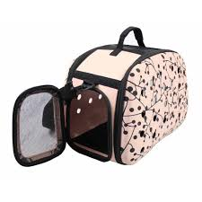 Overstock Com Pets Pet Life Brown Wheeled Travel Pet Carrier With Side Pouch And