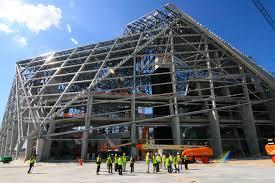 mercedes benz biome doors open inside atlanta falcons u0027 mercedes benz stadium today curbed atlanta