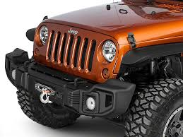 bumpers for jeep rugged ridge wrangler spartacus front bumper satin black