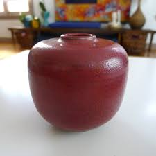 Studio Pottery Vase Rare Studio Pottery Vase Mcm Rouge De Cuivre