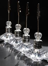 table top place card holders 4 crystal place card table number holders crystal place place