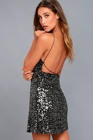sequin dresses black sequin dress backless dress sequin mini dress