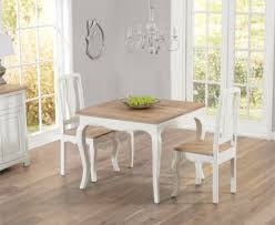 buy the parisian 90cm shabby chic dining table with chairs at oak