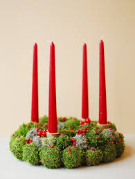 advent wreath natural christmas wreath holiday wreath