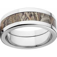 mens stainless steel wedding bands realtree max 4 men s camo 8mm stainless steel wedding band