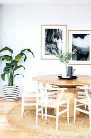 dining room framed art trendy modern touch this round wooden table with one single table