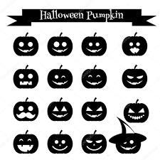 cute halloween pumpkin emoji icons set emoticons stickers