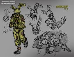 fnaf springtrap sketches 01 8 9 15 by mattartist25 on deviantart