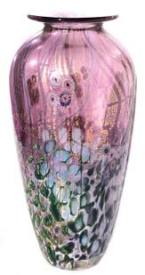 Amethyst Glass Vase Wilderness Glass Vase Amethyst Wilderness J H Studio Glass