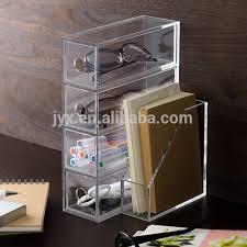 Clear Desk Organizer Multi Function Custom Clear Acrylic Desk Organizer Buy Acrylic