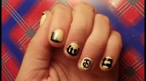 bendy and the ink machine nail art sort of youtube