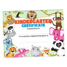kindergarten certificates kindergarten certificate animals s