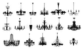 Chandelier Shapes 17 Different Shapes Of Chandelier Stock Illustration