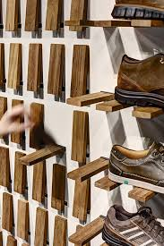 Wood Gallery Shelves by Gallery Of Skechers Tr Casual Showroom Zemberek Design 5