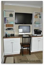 Built In Desk Diy Diy Built In Desk Using Kitchen Cabinets After Cutting Toe
