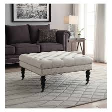 Tuffted Ottoman Isabelle Square Tufted Ottoman Target