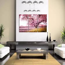 cherry blossom trees wall art 3 pieces autumn forest canvas print cherry blossom trees wall art 3 pieces autumn forest canvas print wood frame giclee