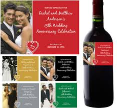 anniversary wine bottles wine chagne labels