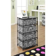 ameriwood home sidney 4 bin storage end table zebra black