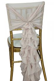 ruffled chair covers hooded chiffon ruffle chair cover for your diner en blanc folding