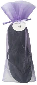 organza bag classic black flip flop with lavender organza bag my party saver