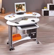 petit bureau informatique bureau informatique design pivotant coloris blanc teck bureau bureau