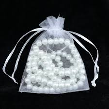 white organza bags wholesale 100pcs lot drawable white organza bags 15x20cm wedding
