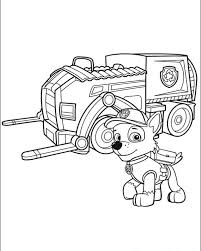 paw patrol coloring pages rocky car coloringstar