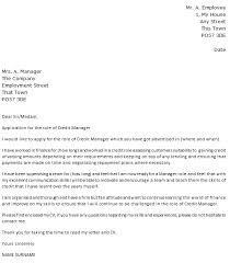 credit manager cover letter example u2013 cover letters and cv examples