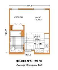 Small Apartment Floor Plans One Bedroom Apartments Efficiency Floor Plan Floorplans Pinterest Studio