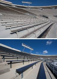 Stadium Bench Two Major Stadiums Renovation Completed U2014 Hussey Seating Company