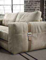 contemporary sofa leather 2 seater beige richmond gamma