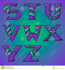halloween decorative alphabet tree u0026 roots letters font stock