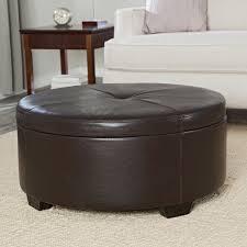 Leather Storage Ottoman Coffee Table Coffee Table Round Upholstered Coffee Table Ottoman Tray Leather
