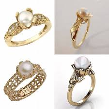 the pearls wedding band pearl engagement ring tips and ideas