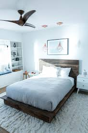 diy reclaimed wood platform bed minimalist bedrooms and room