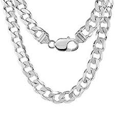 link necklace silver images Sterling silver thick cuban curb link chain bracelet jpg