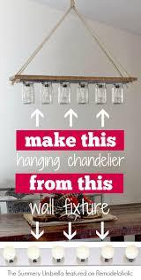 Diy Dining Room Lighting Ideas Diy Bathroom Light Fixtures Lighting Rustic Fixture Makeover
