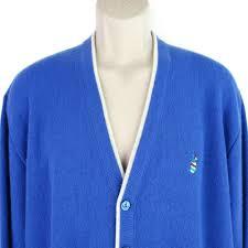 arnold palmer sweater arnold palmer sweater cardigan xl mens vtg blue embroidered golf