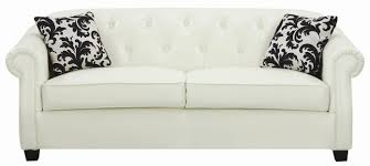 Leather Tufted Sofas by Fresh Stunning White Button Tufted Leather Sofa With 25728