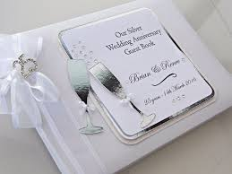 personalised wedding guest book silver wedding anniversary guest book personalised
