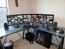 3 Monitor Computer Desk 30 Coolest And Inspiring Multi Monitor Gaming Setups