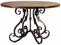Copper Top Dining Room Tables Hammered Copper Top Tables With Iron Bases