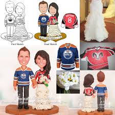 st louis rams and edmonton oilers wedding cake toppers hobby
