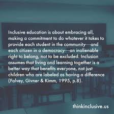 quotes visual learning inclusion quotes collection one think inclusive
