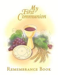 communion book communion remembrance book