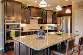 recycled countertops counter height kitchen island lighting